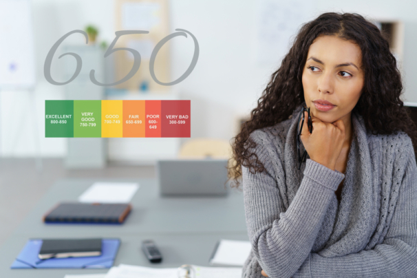 what does my 650 credit score mean